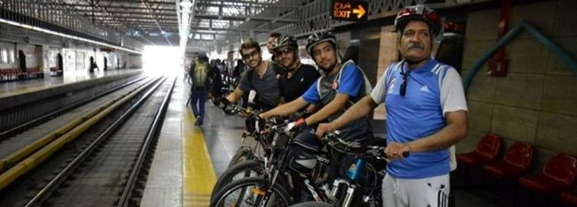 Limited Entry for Bikes on Tehran Subway