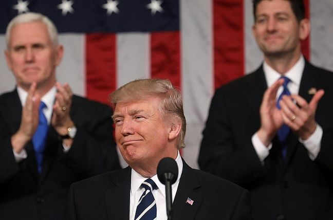 Trump Connects Presidency With Prosperity in 'American Moment'