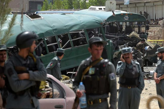 Afghan police battle holdout gunman after suicide attacks hit Kabul