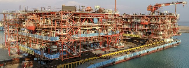 South Pars Last Offshore Platform Ready
