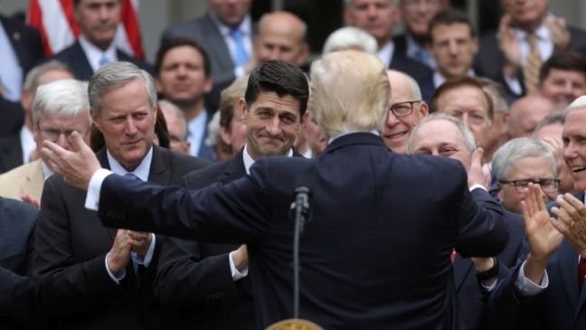 Trump to Senate Republicans: kill Obamacare now, replace later
