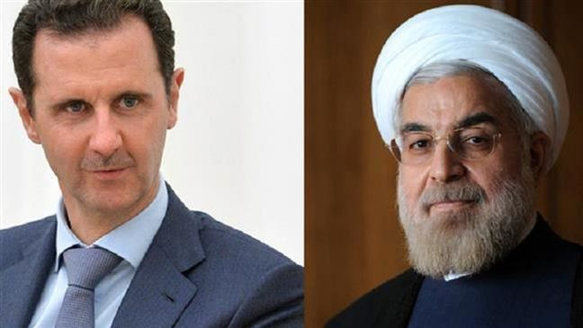 Iran to continue support for Syria against terrorism, Rouhani tells Assad