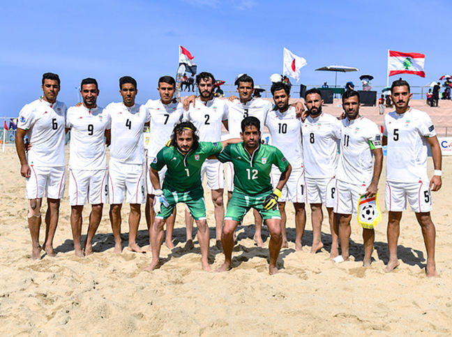 Iran beach soccer team ranks 3rd in world