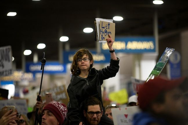 Tens of thousands in U.S. cities protest Trump immigration order