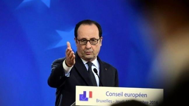 Hollande Tells Mideast Conference Two-State Solution Threatened