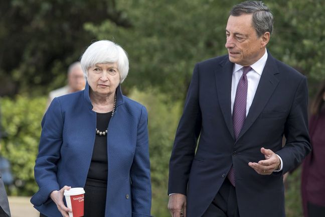 Yellen and Draghi Both Defend Post-Crisis Financial Regulation