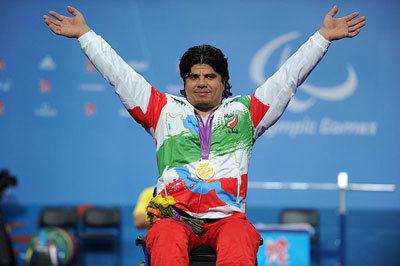 Iranian weightlifter Majid Farzin breaks world record