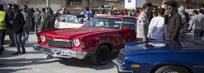 Classic Cars on Show in Shiraz