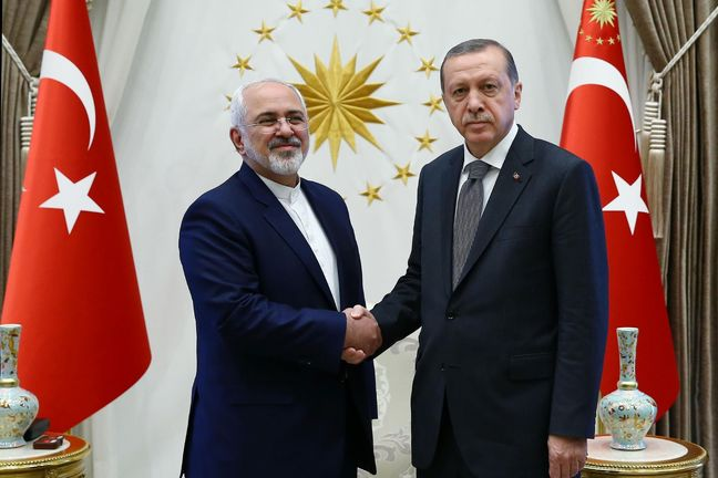 Zarif discusses regional issues with Turkish president