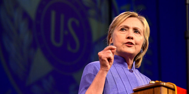 Clinton touts 'American exceptionalism' in appeal to Republicans