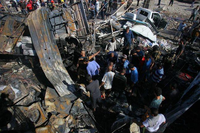 Suicide truck bomb kills more than 80 in Iraq, most of them Iranian pilgrims