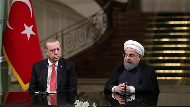 In talks with Erdogan, Rouhani warns of plots to disintegrate regional states