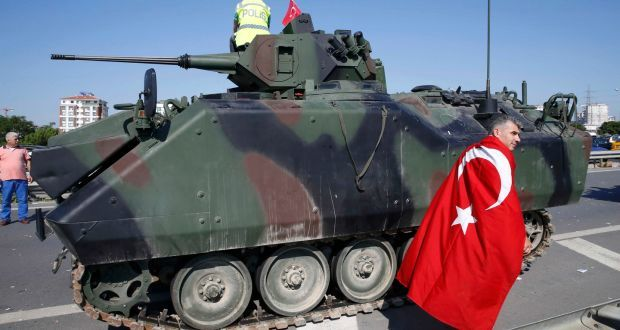Turkey rounds up plot suspects after thwarting coup against Erdogan