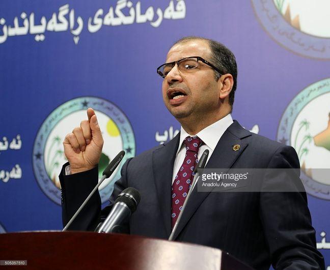 Iraqi parliament speaker in Iran for talks today