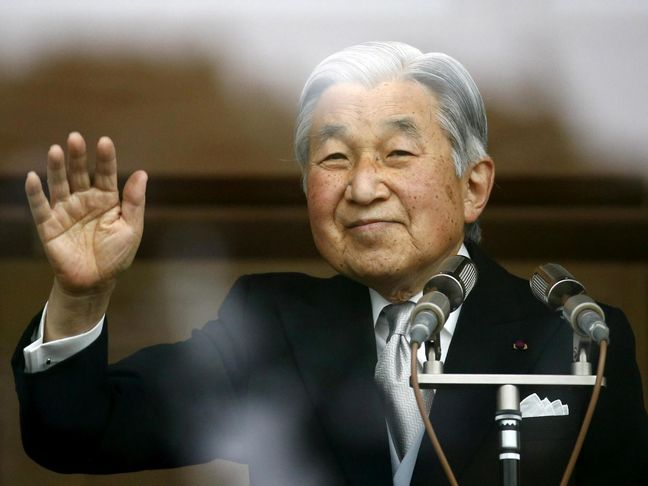 Japan's emperor speaks to public in remarks suggesting he wants to abdicate