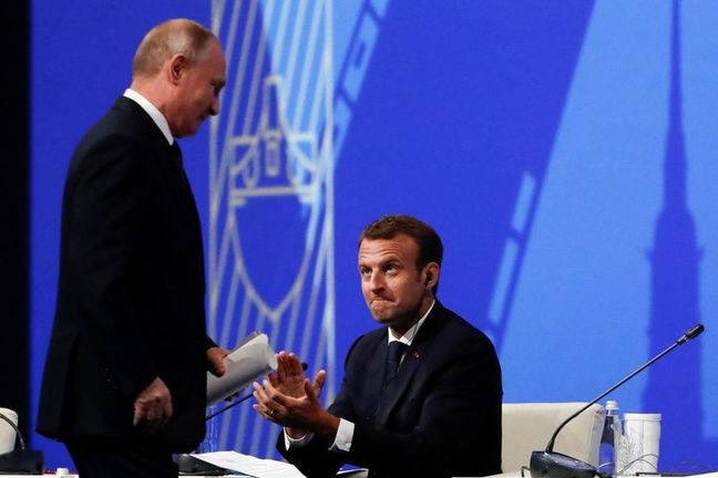 Putin, Macron bond over shared unease at Trump's actions