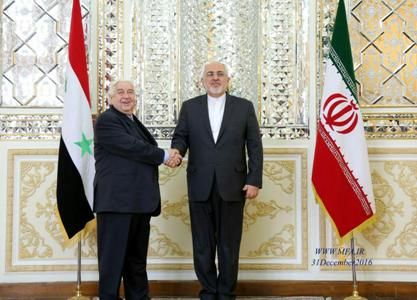 Iran, Syria foreign ministers review ceasefire in Syria