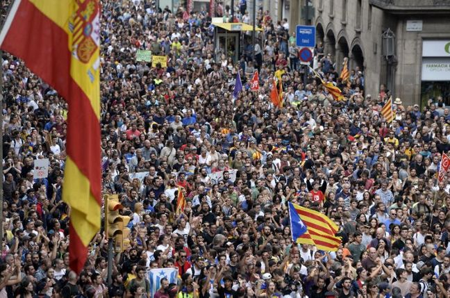 Protesters Head to the Streets in Bid to Defuse Catalonia Crisis
