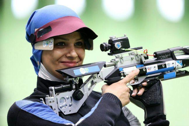 Iranian female shooter among world best shooters