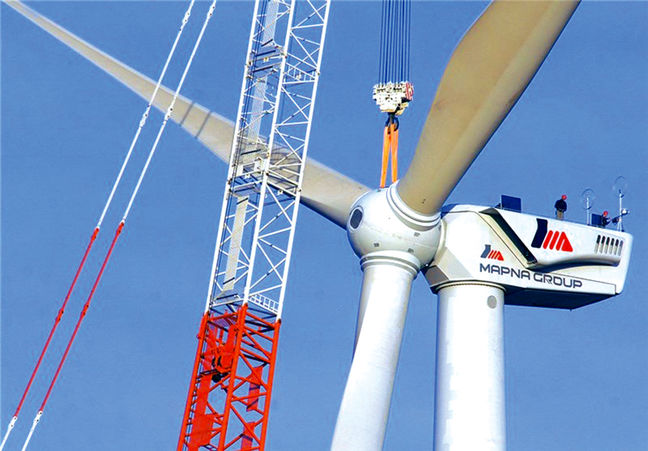 MAPNA, Energy Ministry Indigenize Wind Turbine