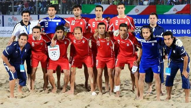 Iran national beach soccer team remains 5th at world ranking