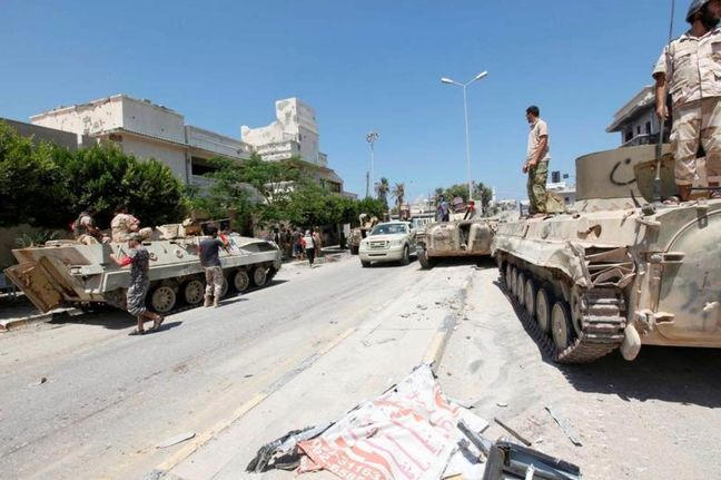 Libyan forces say Islamic State beaten back in Sirte